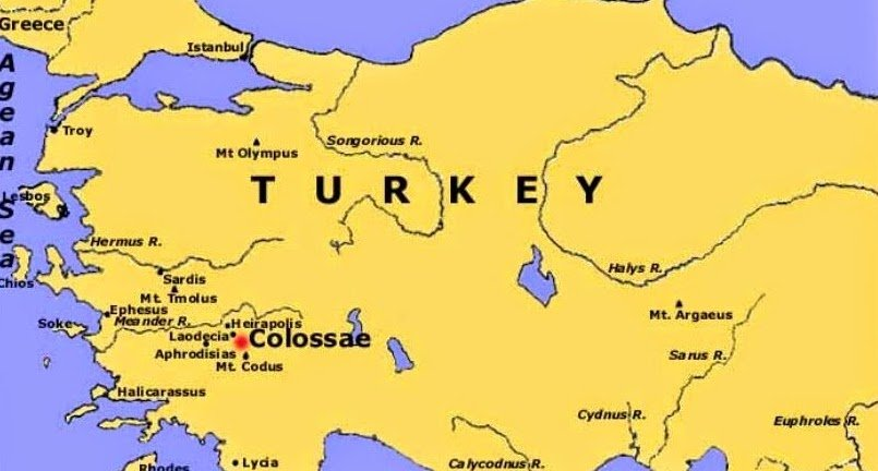 Colossae - located in modern day Turkey